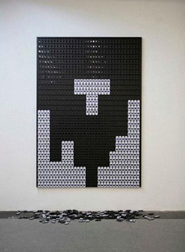 Gene Chips (2009), Exhibition view, Kunstraum Praterstraße 15