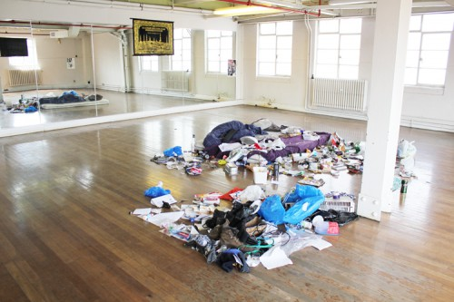 ,Your Bed'  onFIRE Exhibition View, June 13th 2012, Old Fire Station Vauxhall, London