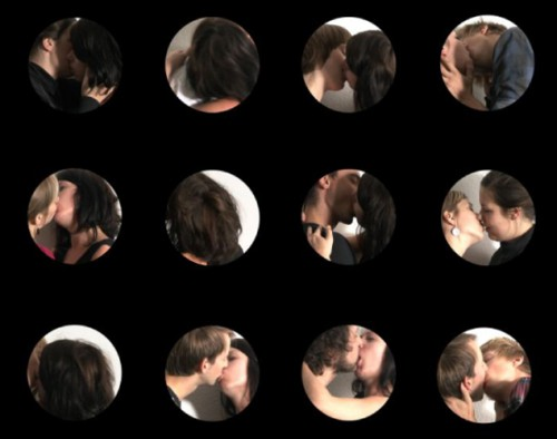Kiss 2009, Videostill, part of the installation 'Bang on Target'